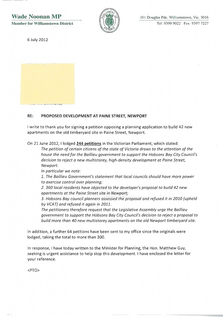 Letter to planning minister matthew guy from wade noonan mp posted expocarfo Choice Image